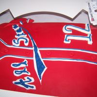 All Star Jersey made to match a customers all star team jersey. fondant with ri
