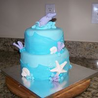 Ocean Theme here is a cake i made after getting ideas from another user here. mine isn't as good as hers but i hope you like it! the customer...
