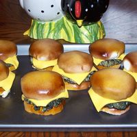 Cheeseburger Cupcakes this was so much fun! i made the cupcakes and cut them in half, then covered with fondant and airbrushed them like buns. I used rkt for...