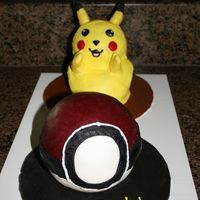 Pokemon My husband and I made these cakes for a friend's son who was turning 5. We used the Wilton 3-D bear pan for Pichachu and the Pokemon...