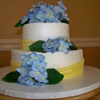 Gumpaste Hydrangea Cake  This cake was actually made for a young ladies' 17th birthday! when she FIRST saw the cake, she ghasped and said that it looks like a...