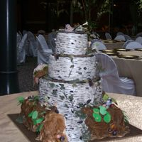Birch Bark Wedding   everything was edible except for the wires