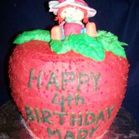 Strawberry Shortcake   the cake is butter cream, strawberry shortcake is fondant