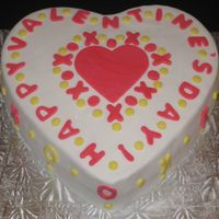 Valentine's Day I made this cake just for fun and for practice. 2 layer lemon cake covered and decorated with fondant.