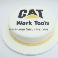 Cat Work Tools Logo Cake This was a retirement cake for a gentleman that worked at CAT Work Tools