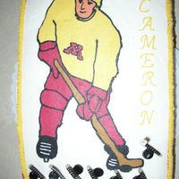 Mn Gopher Hockey   My son LOVES MN Gopher Hockey so....this was the cake he requested