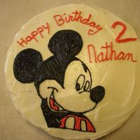 Mickey Mouse Cream Cheese icing and before I knew anything about buttercream transfers or how to make any shells, flowers, etc... :o) I use to do all my...