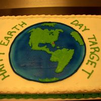 Earth Day Eart Day cake for the comapany Target