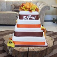 Wedding Cake -- Fall Colors