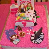 Sleepover Cake A sleepover/movie night cake created for my husbands God-daughter
