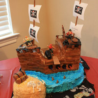 Pirate Ship!!! Everything edible except sails, pirates and skeleton.