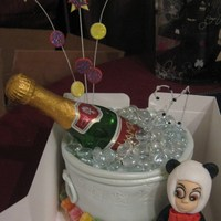 Champagne And Jelly Babies champagne bucket (cake) with jelly babies and sugar model
