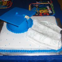 Graduation Cake I made this cake for my son's 4 year old preschool graduation. All of the names of the children are listed on the invitation and...