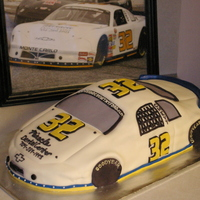 Racing Car I was asked to make this cake for a gentlemen's birthday. I was given a photo of his car to go by. The cake is covered with...