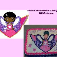 Angel Photo Cake customer had a picture of an angel her daughter liked, but wanted her daughter's face on it instead of the angel's face