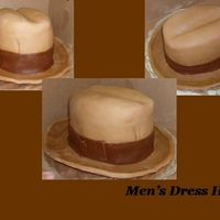 Men's Dress Hat My customer really loved this cake! It was a difficult because the brim cracked on me. I would have like it to look dressier