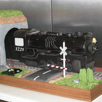 "Pere Marquette 1225 Train Cake  This was done for the recent ICES Cake Competition held in Detroit, MI., and took 1st place in the ""Novelty Cake"" division. The..."