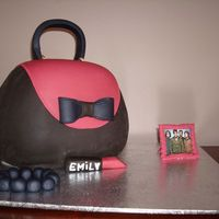 Purse Cake With Fall Out Boy Picture Frame And Lipstick