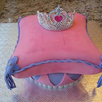 Crown On A Pillow Cake