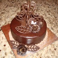 Boston Cake With Chocolate Crown And Ganache