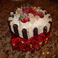 Charlotte Russe Cake With Piroulines