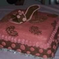 High Heel Shoe Shoe was made of fondant and gum paste. this was the first time for me to experiment with gum paste. The rest of the cake is choc. Butter...