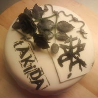 Takida Cake birthday cake to one of my best friend.this is here favorite swedish rock band groupe