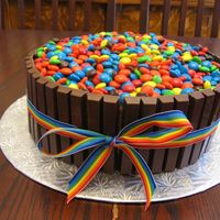 Candy Barrel/ Kit Kat Cake Here is my version of the famous candy barrel cake!