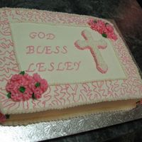 Baptism Cake Cake that I made for my daughter's baptism from an idea I found in the gallery.