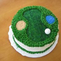 Golf Cake Cherry chip cake with cream cheese frosting. I was just going to do a layer cake but decided at the last minute to make a golf course. The...