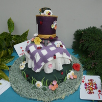 Mad Hatter Tea Party (Alice In Wonderland) Cake for my daughter's birthday - a Mad Hatter Tea Party!