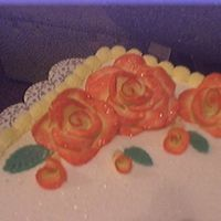 Birthday Cake For Girls From Work The roses are made with fondent and then dry brushed with pink.