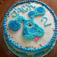 Blues Clues Blue's Clues cake - all buttercream