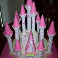 Castle Cake Used the Wilton castle set. It was a learning process and I will definitely do things different next time. All bc. The cones/tops were...