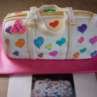 Dooney & Bourke Purse Cake All fondant with gumpaste handles, decorated with Americolor Food Writers, love them!