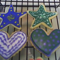Hearts And Stars Butter cookies with Toba's glace.