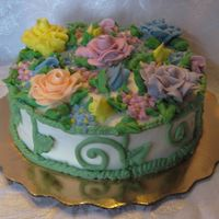 Garden Cake WASC with BCA toothbrush holder was the inspiration for this cake!!!!