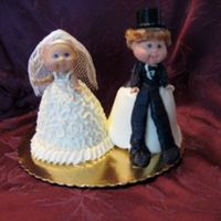 Mini Bride And Groom Dolls Mini Cabbage Patch dolls made into bride and groom.