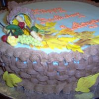 Fall Birthday I decorated this Fall Birthday cake for a friend who didn't want the traditional cake with flowers, etc. She also wanted a lot of...