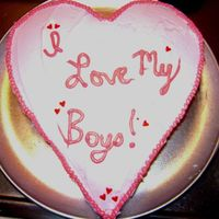 Valentines Cake valentines cake for some hungry boys..nothing fancy cause they are just going to destroy it fast..