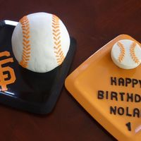 Sf Giants Baseball Cake & Cupcake  The type of cake I never thought Iâd make⦠But then I volunteered for the smash cake for a friend&acirc...