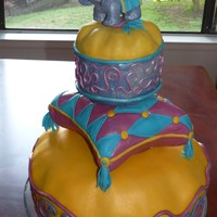Elephant Pillows Loved making this cake! Borrowed the coolest, most-realistic looking elephant toy I've ever seen from my son's pre-school as a...