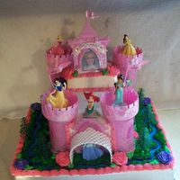 Princess Castle This was a decopac kit. It was white cake iced w/buttercream.