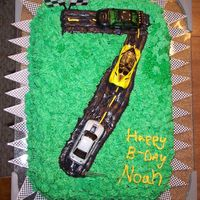 Race Car Well this is the cake that started the OBSESSION!!!! I ran across this pic and thought I'd share. I was for my son's birthday and...