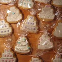 Wedding Cake Cookies These were for a friend's shower - now everyone wants them! Time consuming little things.