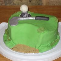 Golf-Cake For A Fun Guy!