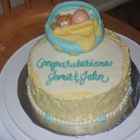 A Cake For A Baby Boy Or A Baby Girl