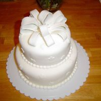 Best Friend's Wedding I was in my best friend's wedding from HS and made her cake as her gift. My first wedding cake - I was happy!