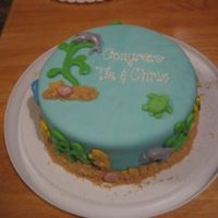 Sea-Themed Cake For Baby Shower