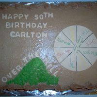 Carlton's 50Th Over The Hill/spin The Wheel Bday another cake inspired from a member on cake central - 12 x 18 sheet butter pecan - they loved it